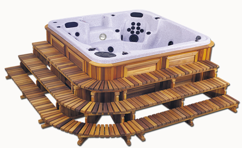 3 tier hot tub step pack